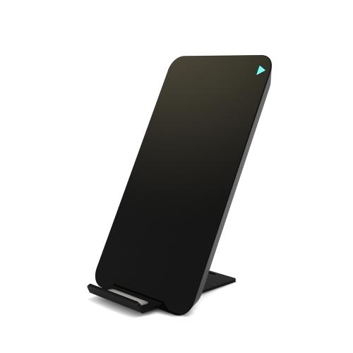 Qi Standard Bezprzewodowy stojak ładujący z otworami Szybka podwójna cewka Telefon bezprzewodowa ładowarka do iPhone 8 iPhone X Samsung Galaxy S8 Uwaga 8