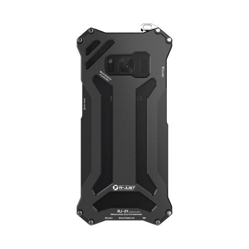 D'origine R-JUST Transformateur en fibre de carbone Cadre en aluminium métal Gundam extérieur couverture de cas d'escalade pour Samsung Galaxy S8