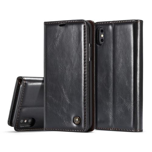 CaseMe wielofunkcyjny telefon skrzynki pokrywa pu skóra portfel ochronna portfel etui z klapką etui futerał posiadacz karty dla iPhone X