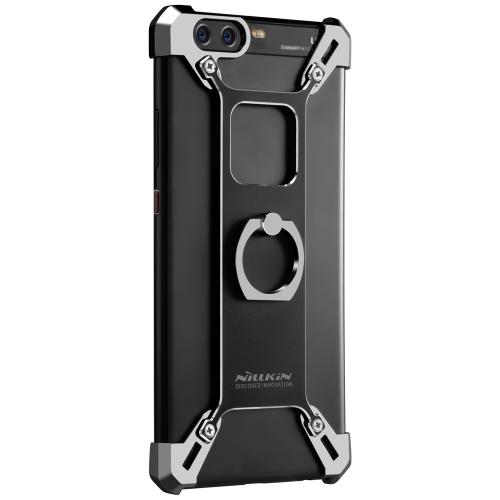 Custodia in metallo NILLKIN Barde con supporto per anelli per custodia HUAWEI P10 Custodia per telefono in alluminio Cassa in alluminio