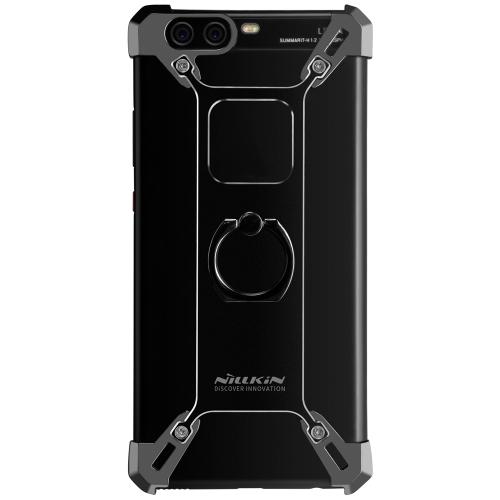 NILLKIN Barde étui en métal avec porte-bague pour HUAWEI P10 Plus téléphone couverture de boîtier en alliage d'aluminium pare-chocs