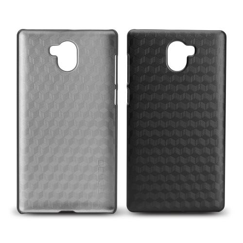 LEAGOO KIICAA MIX硬質プラスチック保護電話カバーのための六角形のラティス電話ケース傷つき防止ショック