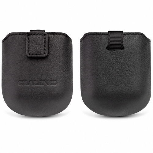 QIALINO Натуральная кожа Защитный чехол для Airpods Head Layer Cowhide Hand-made Soft Magnetic Absorption Design Case