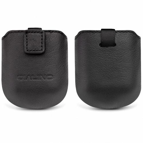 QIALINO純正革製エアバッグ用保護ケースヘッドレイヤー用牛革手作り軟磁性吸収ケース