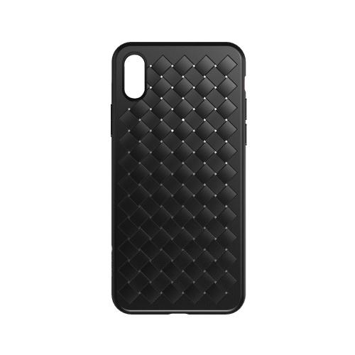 WSKEN ткачество защитный чехол для телефона для iPhone X плетеный вентилируемый телефон Shell прочный корпус TPU ударопрочный царапины