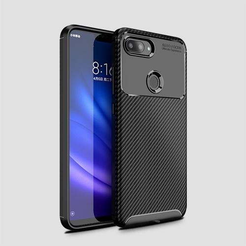 Чехол для телефона из углеродного волокна ТПУ Защитная крышка телефона Простой Легкий протектор мобильного телефона для Xiaomi 8 Lite фото