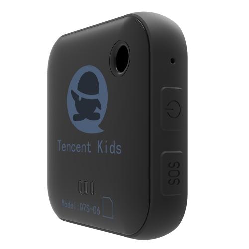 Localizzatore bambini Tencent Q7S-06 Mini localizzatore GPS portatile Pulsante SOS Allarme GEO-Fence GPS LBS WiFi 3 modi Posizionamento preciso per bambini Anziani Animali domestici