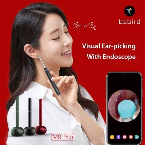 Xiaomi Youpin Bebird Смарт-визуальная амбушюра M9 Pro Многофункциональные 17 головок для захвата Высокоточный эндоскоп на 300 Вт 350 мАч с магнитным основанием для зарядки Визуальные амбушюры