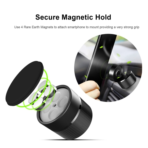 perfume car mount holder aluminum alloy strong magnetism magnetic phone stand for smartphone tablet