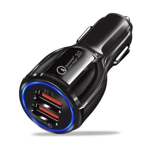 Быстрое автомобильное зарядное устройство с 2 портами USB