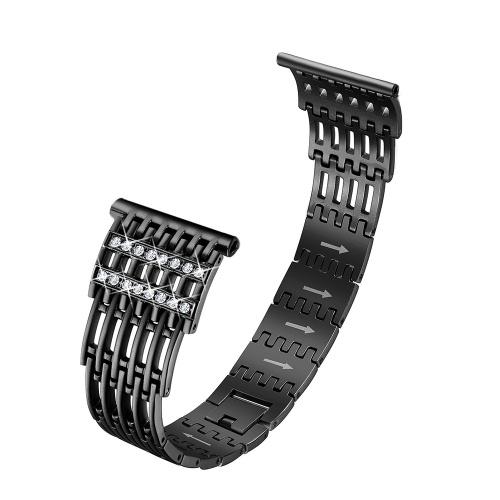 SDXHJ017 Relógio Pulseira Fitbit Strap Moda Metal Link Pulseira Pulseira de Substituição para Fitbit Versa com Strass