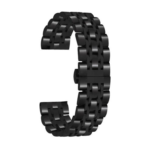 Cinturini per orologio in acciaio inossidabile da 22 mm con cinturino dell'orologio a sgancio rapido con estremità dritta Cinturino lucido con fibbia a farfalla Compatibile con orologio smart / tradizionale da 22 mm