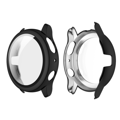 Жесткий чехол для ПК с закаленным стеклом HD Защитная пленка для экрана Защитная крышка с полным покрытием Тонкий прозрачный бампер Замена корпуса для Samsung Galaxy Watch Active 2 40 мм Черный