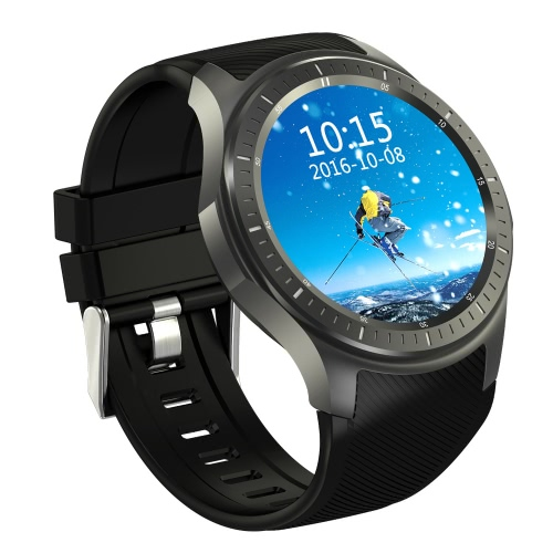 DM368 relógio inteligente 3G WCDMA Watch Phone 1.39inch AMOLED Tela 400 * 400pixel MTK6580 Quad Core 1.3GHz CPU Android 5.1 OS 512 MB RAM de 8 GB ROM 400mAh Bateria BT4.0 GPS WiFi pedômetro Reminder-frequência cardíaca chamada Smartwatch