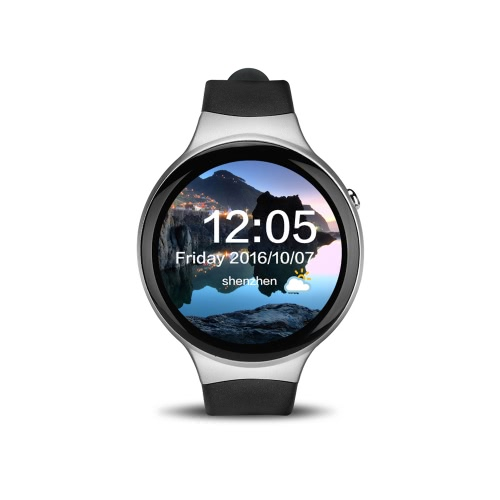 I4 Heart Rate Smart BT Sport GPS 3G / 2G Watch Phone MTK6580 1.3GHz 1GB RAM + 16GB ROM Android 5.1 Notificação de chamada Pedômetro Alarme Metal Frame MP3 MP4 WiFi