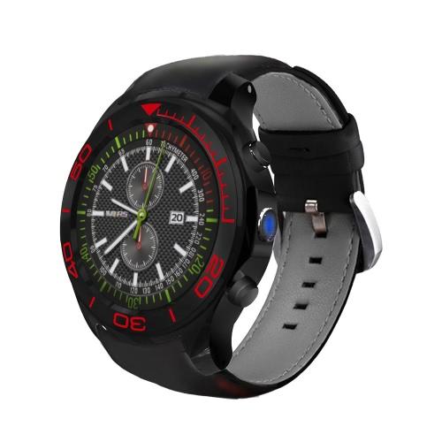 S1 Plus Heart Rate Smart BT Sport GPS 3G / 2G Watch Phone Touch Screen 512MB de RAM 8GB ROM Android 5.1 2MP Camera Call Notificação Pedômetro Alarme Metal Frame MP3 MP4 WiFi