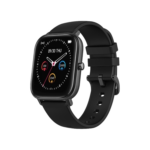 P8 Ultra Slim Touchscreen Smart Watch with 1.4-inch Square Display Wearable Fitness Tracker with Heart Rate and Blood Pressure Monitor Sleep Tracker IP67 Waterproof Sports Watch with Stopwatch Remote Shutter Music Control Compatible with Android iOS