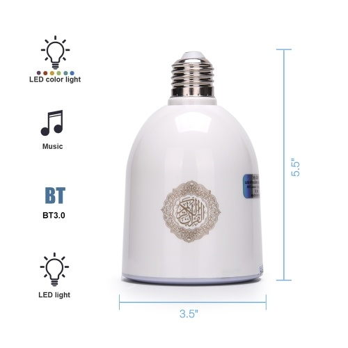 E27 Speaker LEDs Light Bulb BT Loudspeaker Remote Control Music Lamp Bulb