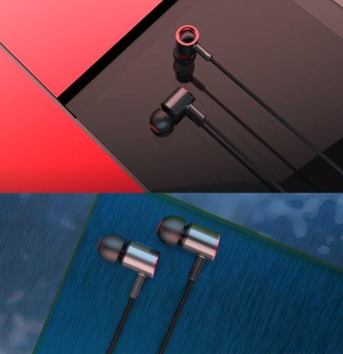 DZAT DR-25 Fone de Ouvido 3.5mm Bobina Em Movimento + Moving Iron Fone de Controle de Fone De Ouvido Fone De Ouvido Fone de Ouvido de Telefone Inteligente com Microfone para Android / Windows Phone