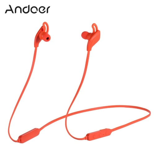 Andoer D1 Wireless BT Earphones PK BeatsX Wireless Sport Running Headphones BT5.0 8 Hours Playtime Richer Bass HD Stereo Magnetic Noise Cancelling Earbuds Hands Free Call Headset with Mic Compatible With iPhone Huawei Samsung Xiaomi