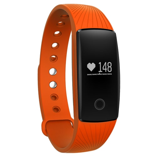 V05C Heart-rate Smart BT Sport Wristband Calls Notification Activity Tracking Sleep Monitor para iPhone Android Smartphones