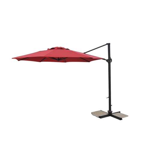 parasol excentr dia350cm alu 80x53mm framboise. Black Bedroom Furniture Sets. Home Design Ideas