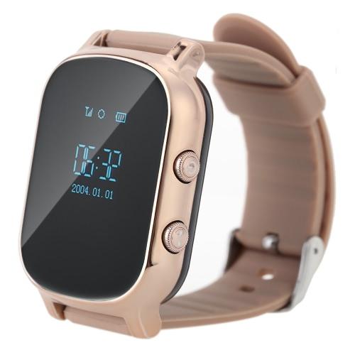 T58 Smart Mini GPS Tracker Watch OLED Bracelet for Kids SOS Button Two-way Communication GSM Phone Wristwatch