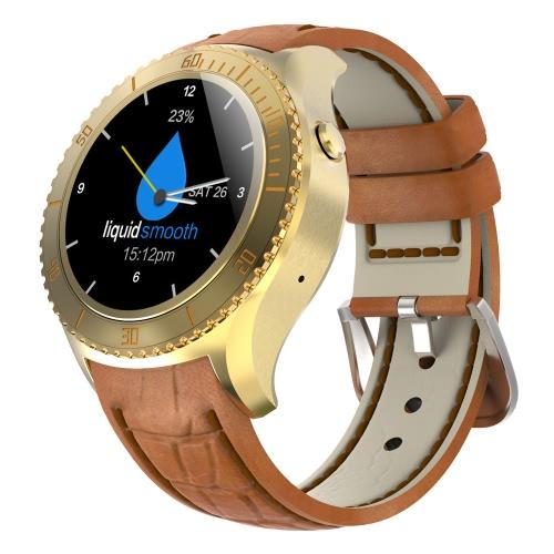 I2 Watch Phone 3G 2G montre Smart Watch Android 5.1 OS MTK6580 Quad Core 512MB RAM 4Go écran 1.33inch ROM Bluetooth 4.0 pour Android 5.4 Bluetooth 4.0 Above Smartphone podomètre Rappel Sédentaire Coeur message Rate Monitor Rappel Météo OTA mise à niveau de numérotation vocale Wifi / Fonction GPS