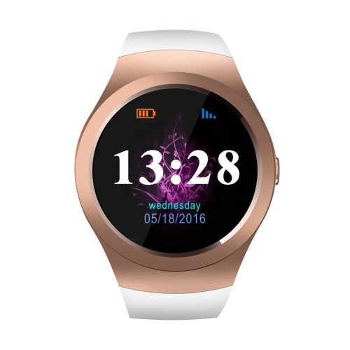 KS2 Smart Watch 2G GSM 1.3 Inches 240*240pixels Capacitive Touch Round Screen MTK2502C Bluetooth 4.0 Hands Free for iPhone Andriod Smartphone Stylish Design Simple OS Text Check Dial Phone Book Synchronous