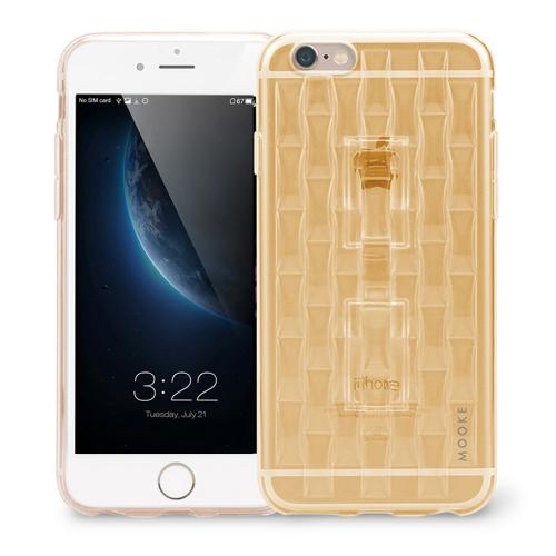 MOOKE Luxuoso Super Flexível TPU Caso Capa Protetora com Funções de Anel de Queda de Prevenção Suporte do Telefone para iPhone 6 Plus 6S Plus 5,5