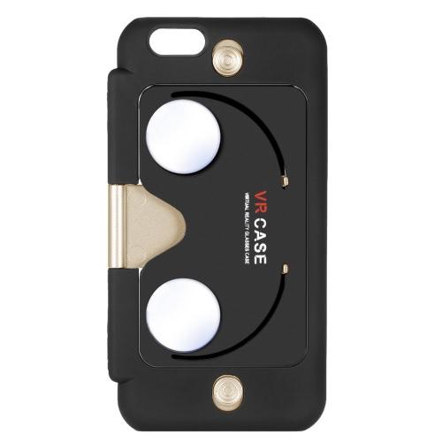 2-em-1 VR protetora Case Phone Case de costas com realidade Virtual óculos função Stand para iPhone 6 6S Plus