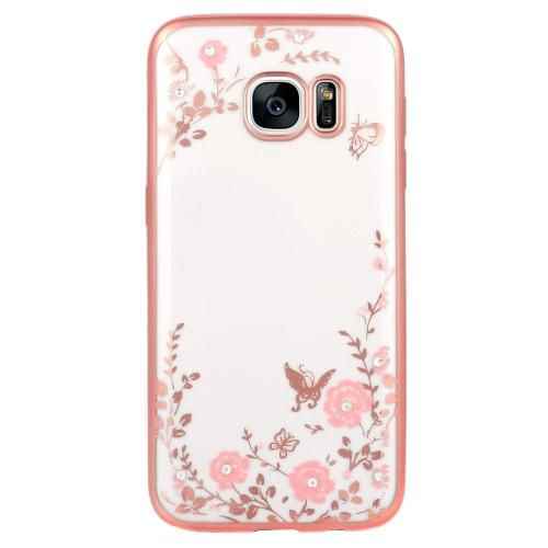KKMOON Shell fondello placcato protettiva Cover ultrasottile TPU leggero moda Bling paraurti per Samsung Galaxy S7