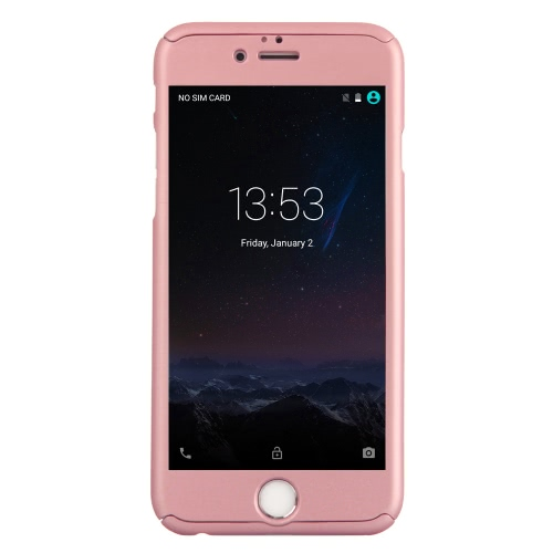 KKMOON 360 ° All-redonda Proteção Slim caso durável tampa Shell com tela de vidro temperado Film Protector para iPhone 6 Plus 6S Além disso,