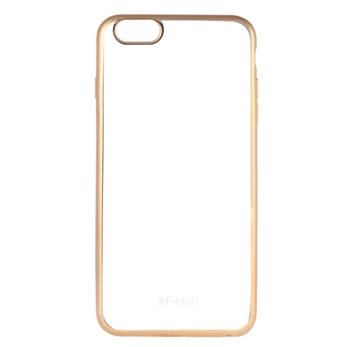 X-Fitted Protective Back Case Plated TPU Bumper Shell Cover for iPhone 6 Plus 6S Plus