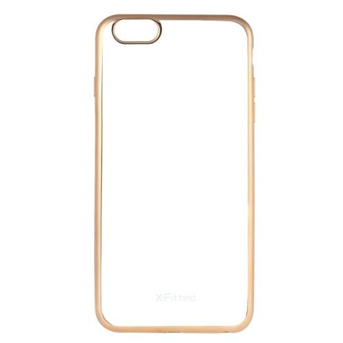 X-cabido volta caso protetor chapeado TPU Bumper Shell Capa para iPhone 6 Plus 6S Além disso,