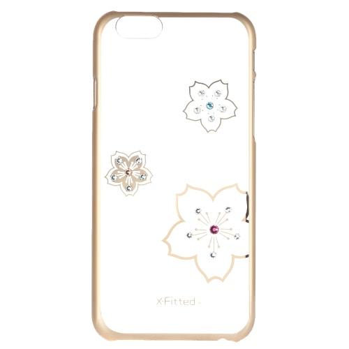 Original luxo X-Fitted 360 ° completo protetora clara volta caso placa pára-choques telefone Shell difícil cobrir com Swarovski Rhinestones chapeamento projeto para iPhone 6 6S 4.7 polegadas