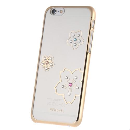 Оригинальный X-Fitted роскошь 360 ° полный защитный ясно обратно пластины бампер телефона оболочки жесткий чехол с Swarovski стразы покрытие дизайн для iPhone 6 6S 4,7 дюйма