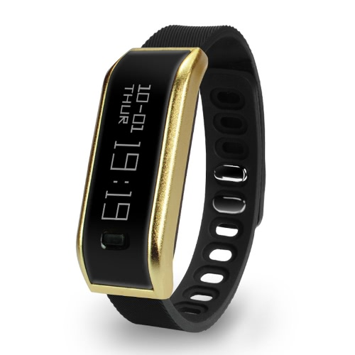 HR07 Smart Band Wristband 0.9inch OLED Display Nordic nRF51822 CPU Bluetooth 4.1 Sport Fitness Bracelet Smartband Pedometer Call Message Reminder Heart Rate for iPhone 6 6S Plus Samsung S6 S7 Plus Smartphones iOS Android Devices