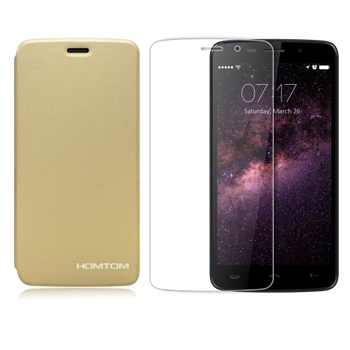 HOMTOM 2-in-1 Suit Package Tempered Glass Screen Protector Film + Protective Case for HOMTOM HT17/HT17 Pro