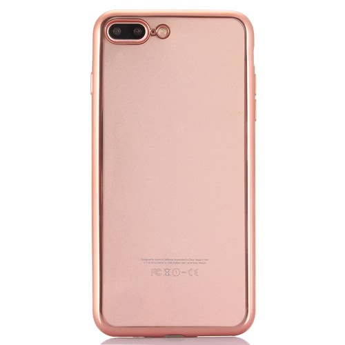 KKmoon Electroplating Protective TPU Cover Case Shell for 5.5 Inches iPhone 7 Plus Eco-friendly Material Stylish Portable Ultrathin Anti-scratch Anti-dust Durable