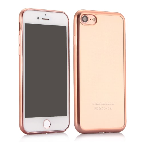 KKMOON Galvanoplastia de protecção TPU caso capa Shell de 4,7 polegadas do iPhone 7 Eco-friendly material moda portátil ultrafinos Anti-zero Anti-pó Durable