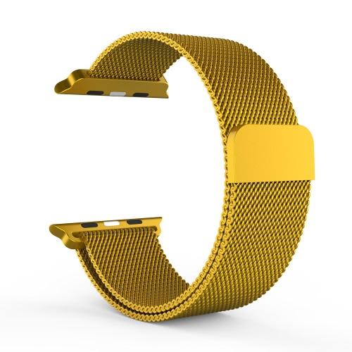 Миланцев из нержавеющей стали Металлическая сетка-сетка ремень ремешок петли Магнит блокировки браслет регулируемый Индивидуальные Замена для компании Apple iWatch 38мм дизайна моды