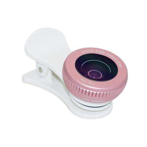 2 em 1 HD 110 ° -170 ° Lente de grande angular grande e lente macro de 15X Conjunto de câmera de telefone celular clip-on externo Kit de lente de foto para smartphones