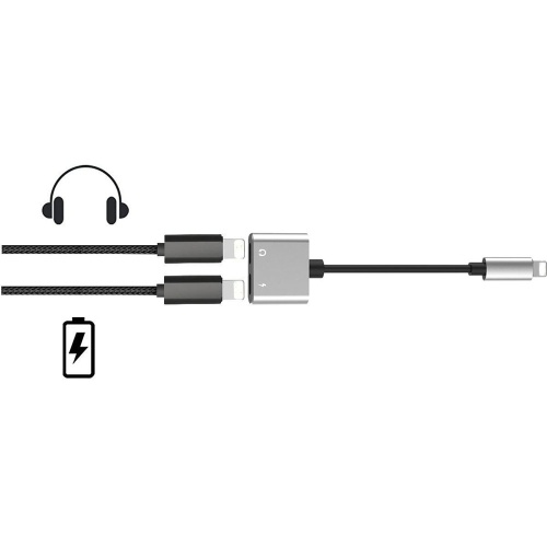 2 in 1 Lightning Audio Charging Adapter to Earphone AUX Cable for Listening Music Charging Converter For iPhone X 8 7 iPod iPad iOS Devices