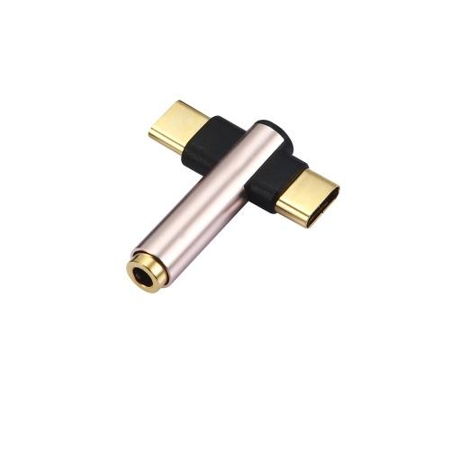 Audio-AUX-Konverter 2-in1-Ladekabel-Splitter vom Typ C