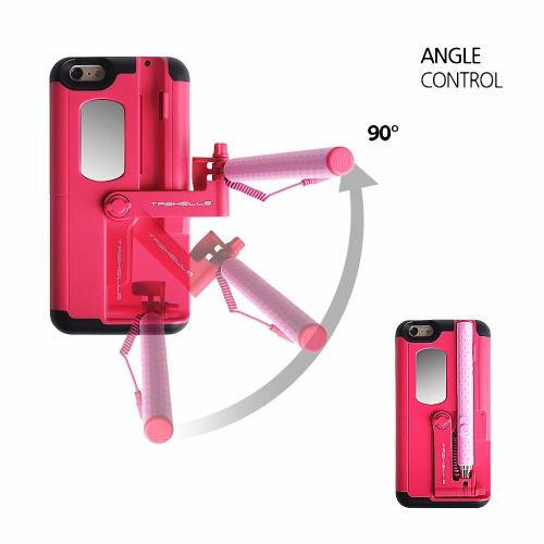 tashells foldable selfie stick phone case for iphone 6 plus 6s plus portable multifunctional self-stick phone shell anti-scratch anti-shock