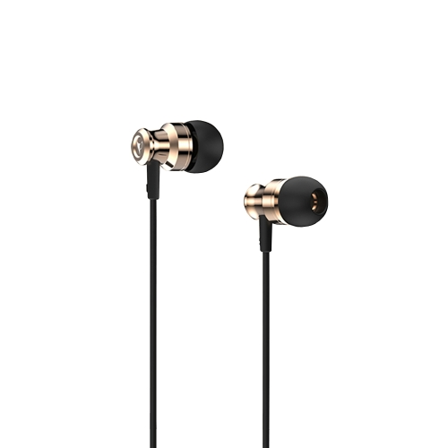 V9S BAYASOLO Stereo Auricolare In-Ear HiFi Sound Cuffie da 3.5mm Jack Wired Auricolari Controllo volume Auricolare a mani libere per Smartphones