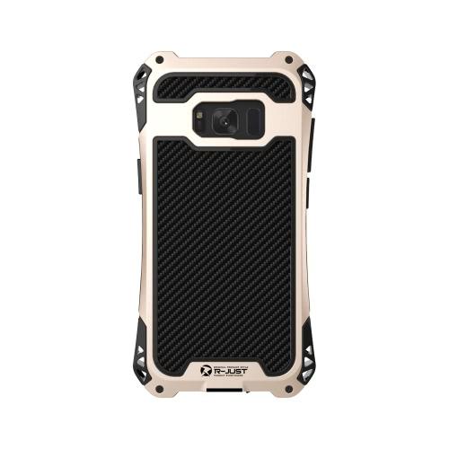 R-APÊNDICE AMIRA Series Metal Tri-prova Phone Case para Samsung Galaxy S8