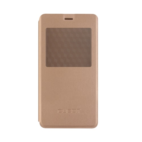 Elegante Flip Cover Shell Leather Protective Case Book Flip com Window View Stand Cellphone Cover para CUBOT Rainbow 2 Smartphone
