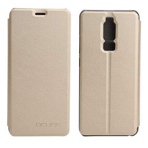 Tampa do telefone OCUBE para LEAGOO S8 Caixa de telefone de couro PU suave Caixa protetora Proteção total Proteção contra choque anti-choque